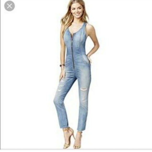 acbb0415a5a5 Guess Denim - Guess Denim Jumpsuit Maxine distressed size 0